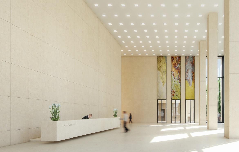 Современный холл в гостинице