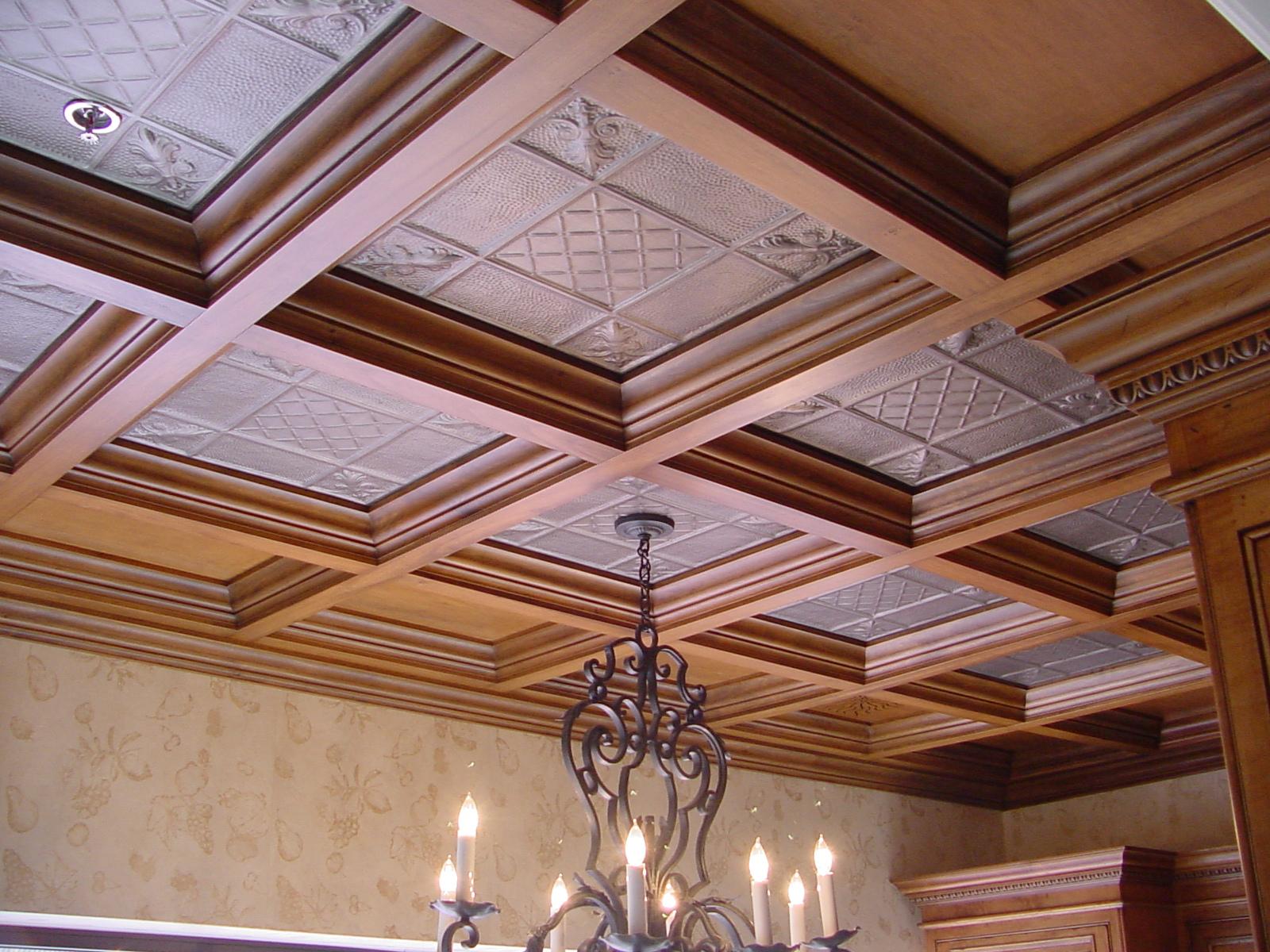 Кессонная конструкция потолка стала вновь популярной