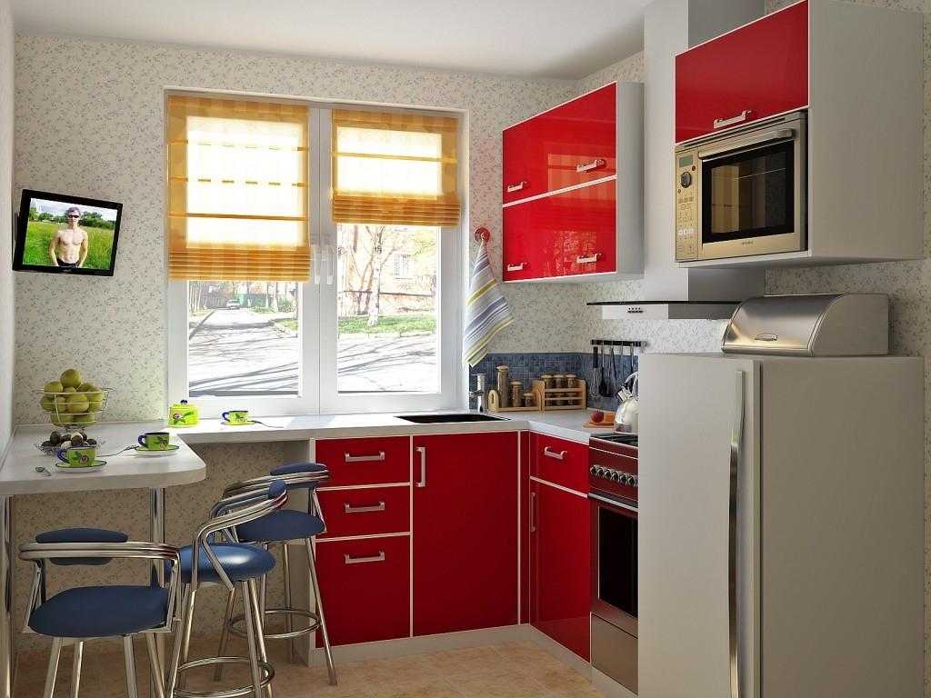 Даже маленькая кухня в хрущевке после перепланировки может быть просторной и стильной