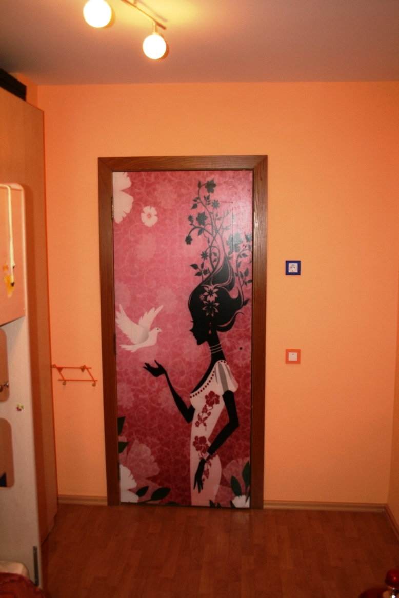 Красивый декор дверного полотна