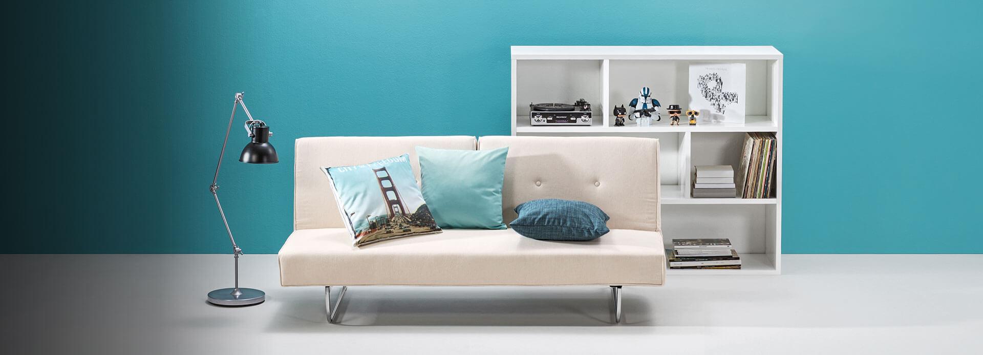 Пример цветового оформления гостиной
