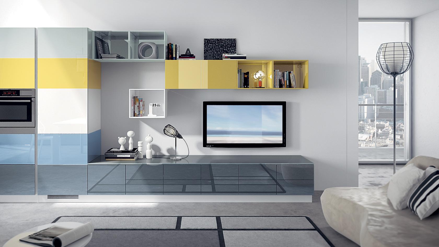 Модульные системы в современной гостиной