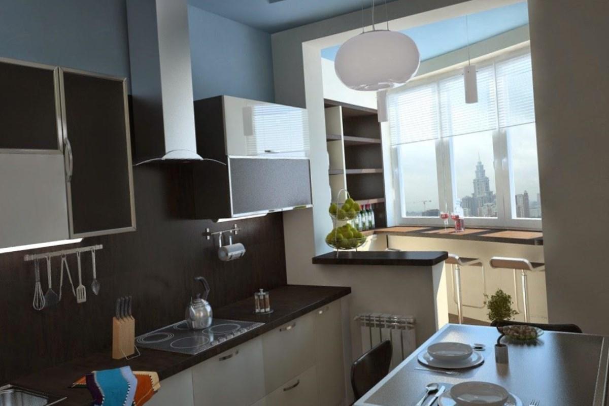 Кухня с балконом - идеального решения для маленькой квартиры.