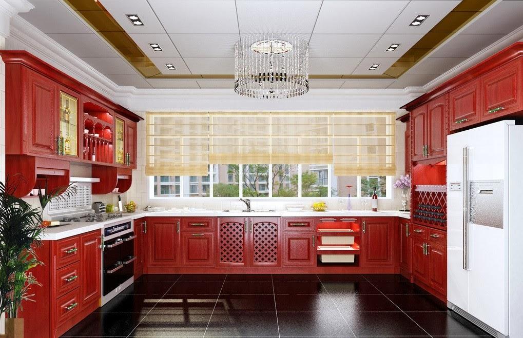 Вариант отделки кухонного потолка