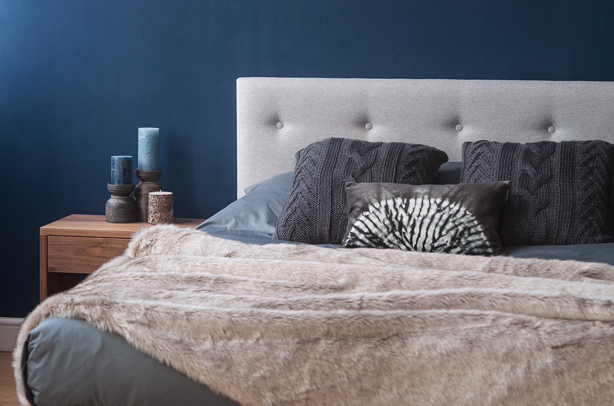 Стильная спальня - игра текстур