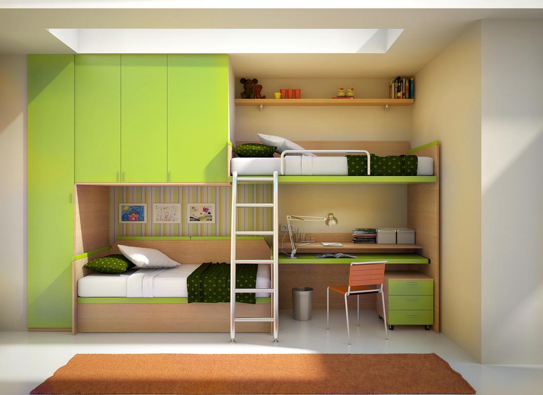 Цветовые акценты в комнате мальчика подростка