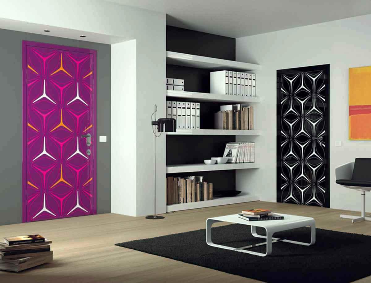 Идея декорирования дверей в интерьере