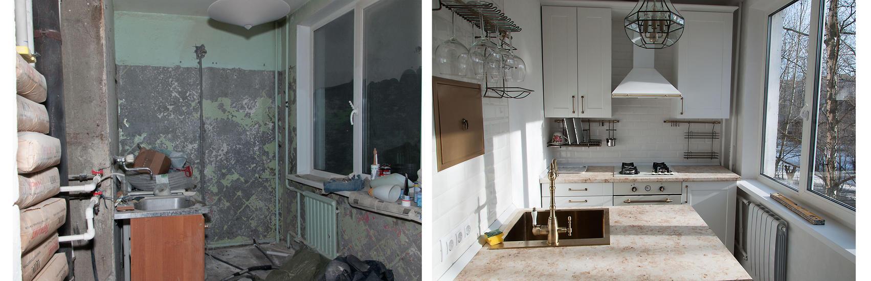 Отремонтированная кухня