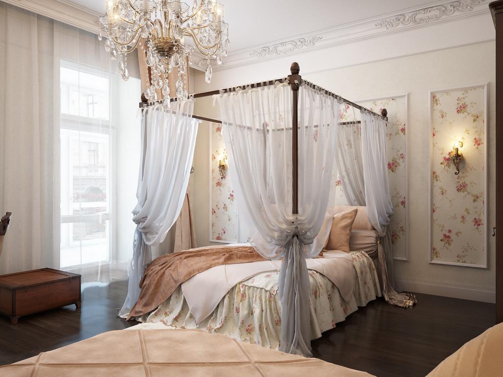 Цветовое оформление романтичной спальни