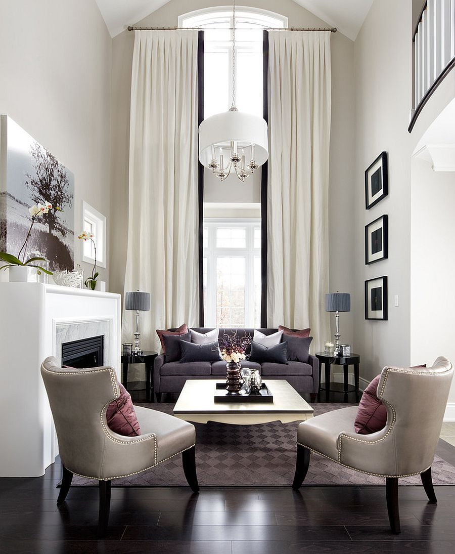 Творения искусства - обязательный элемент помещения с высокими потолками