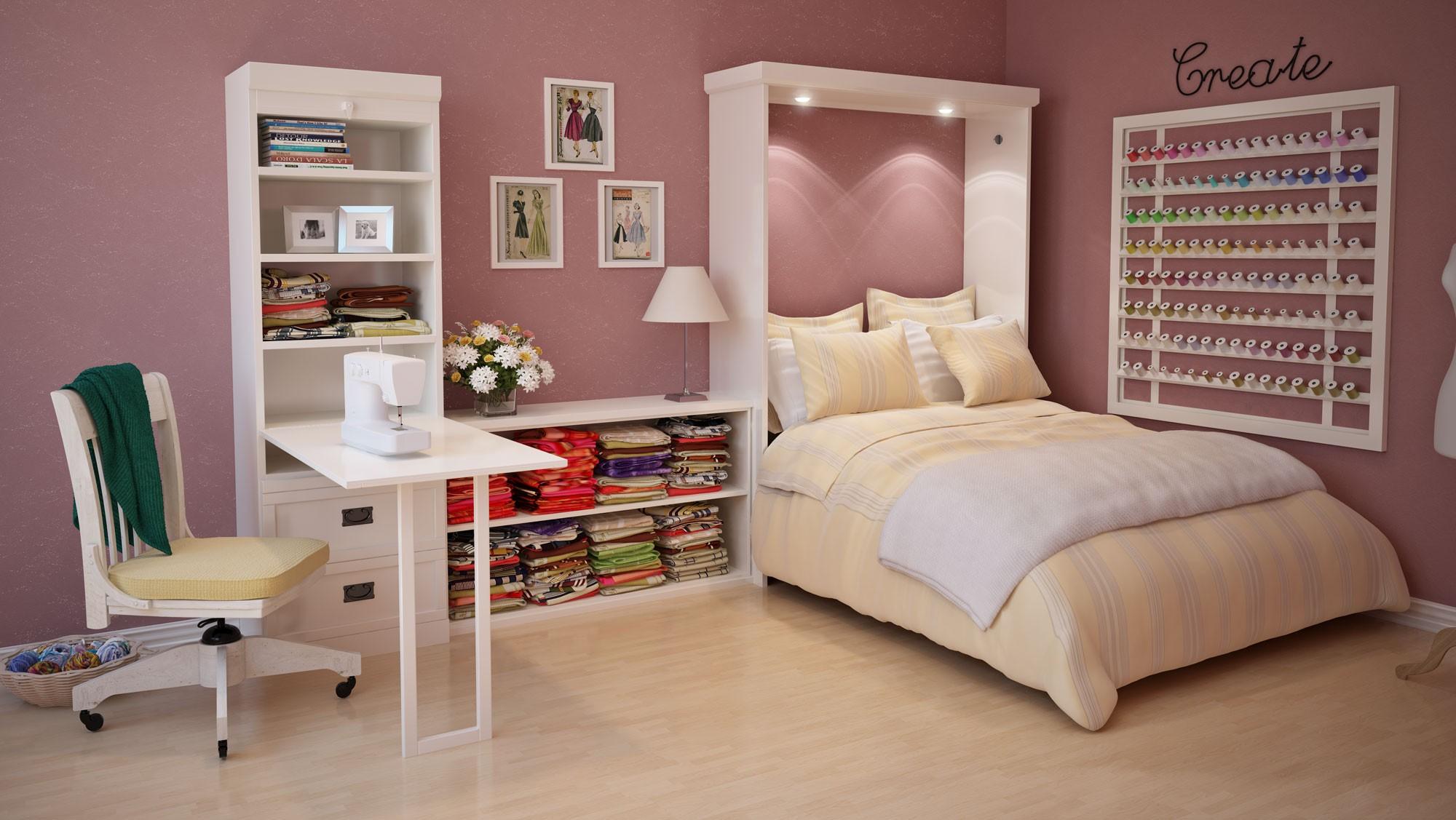 Трансформируемая мебель - находка для комнаты-студии в стиле модерн