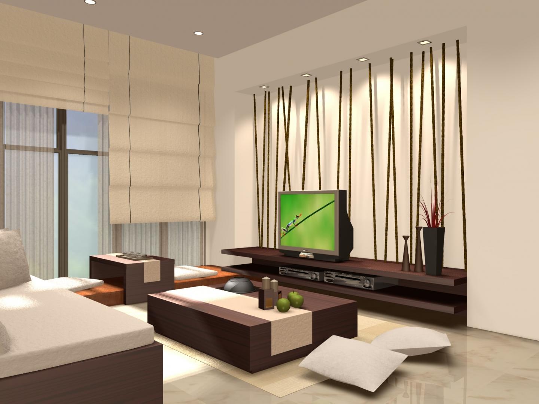 Цветовое оформление гостиной в японском стиле