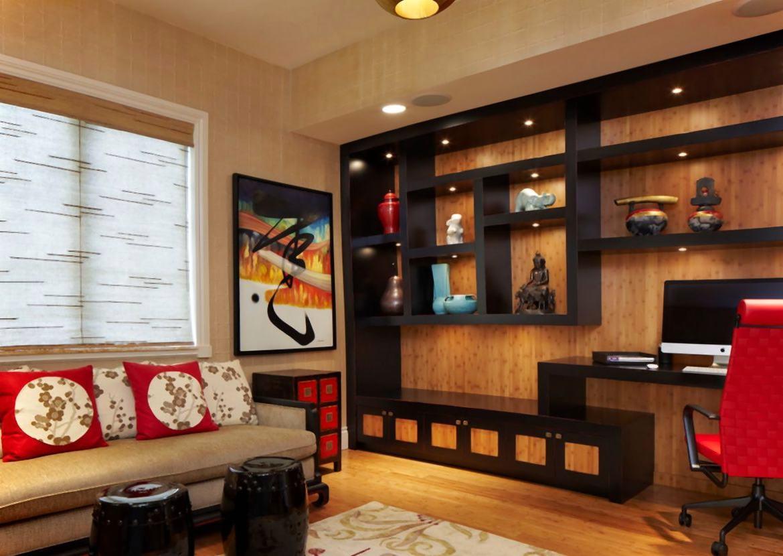 Дизайн комнаты с полками