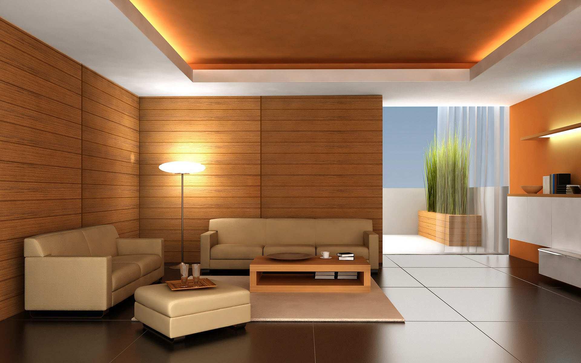 Вариант отделки стен в комнате японского стиля