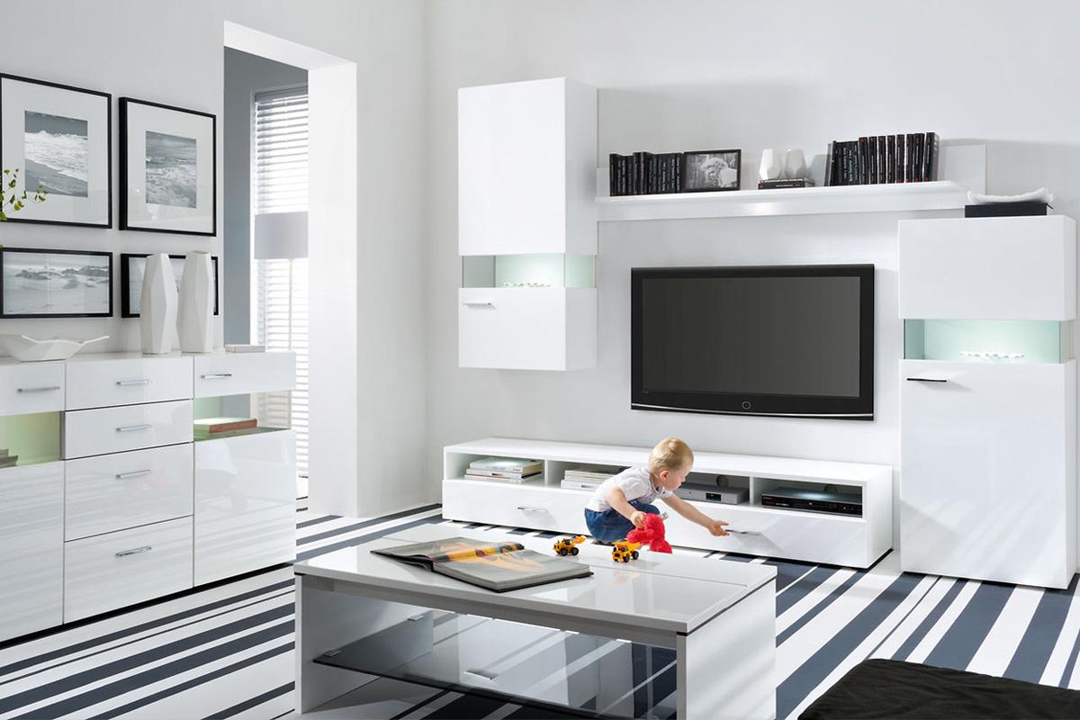 Стильная гостиная с модульной мебелью