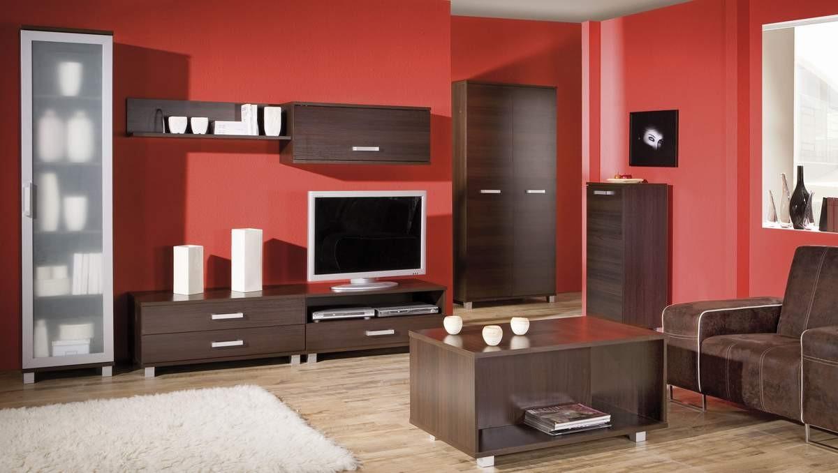 Пример оформления гостиной с модульным комплектом мебели