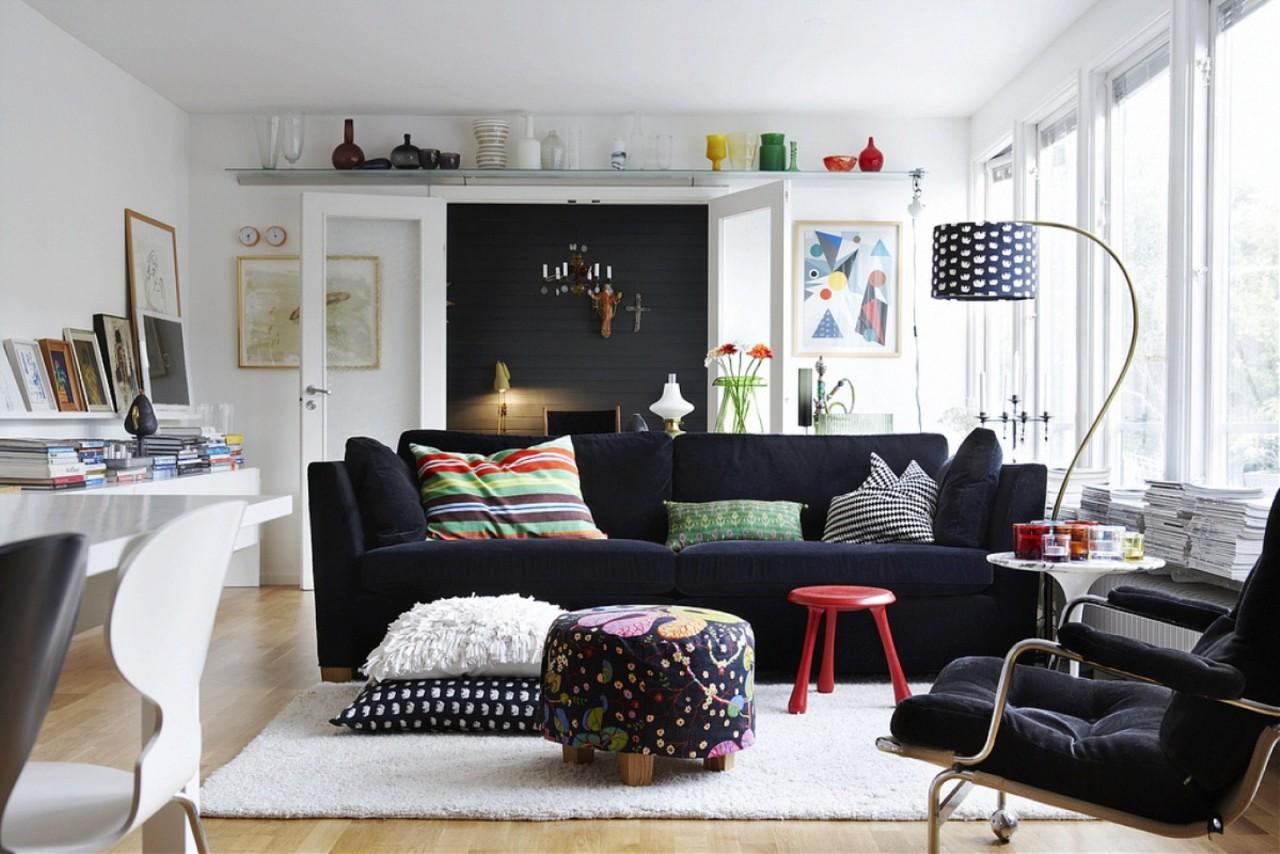 Причудливые напольные торшеры - идеальное решение для квартиры в стиле фьюжн