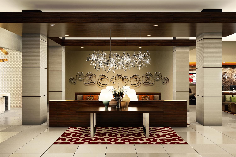 Модерн в интерьере гостиничного холла