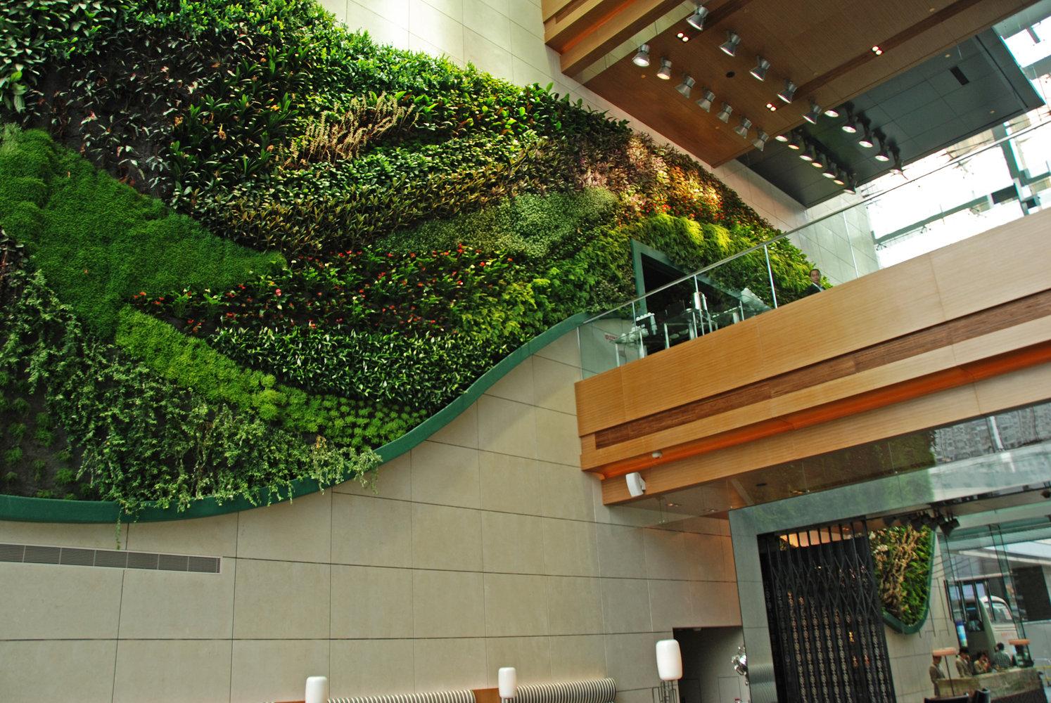 Вертикальный сад в отеле Icon (Гонконг)
