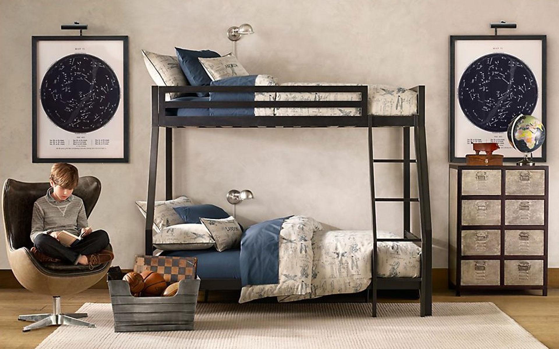 Компактная мебель - решение в комнату для двоих подростков