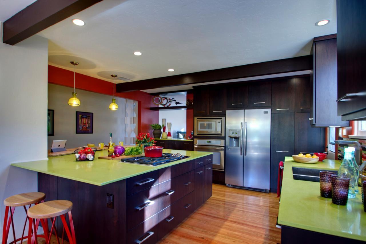 Шикарная кухня в стиле эклектика