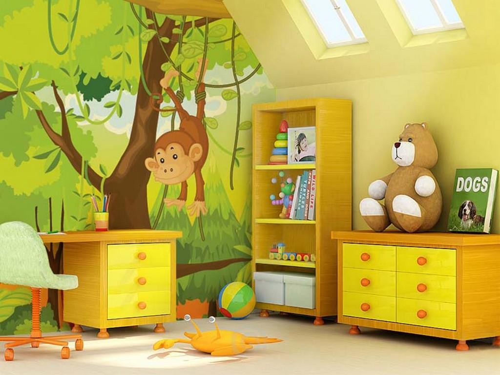 Декор одной стены в детской