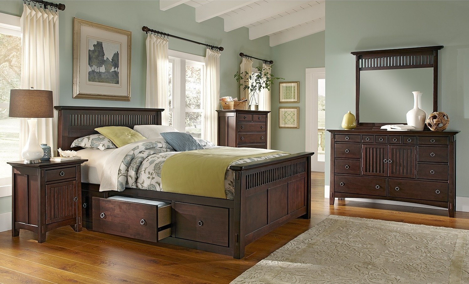 for Queen mission style bedroom set