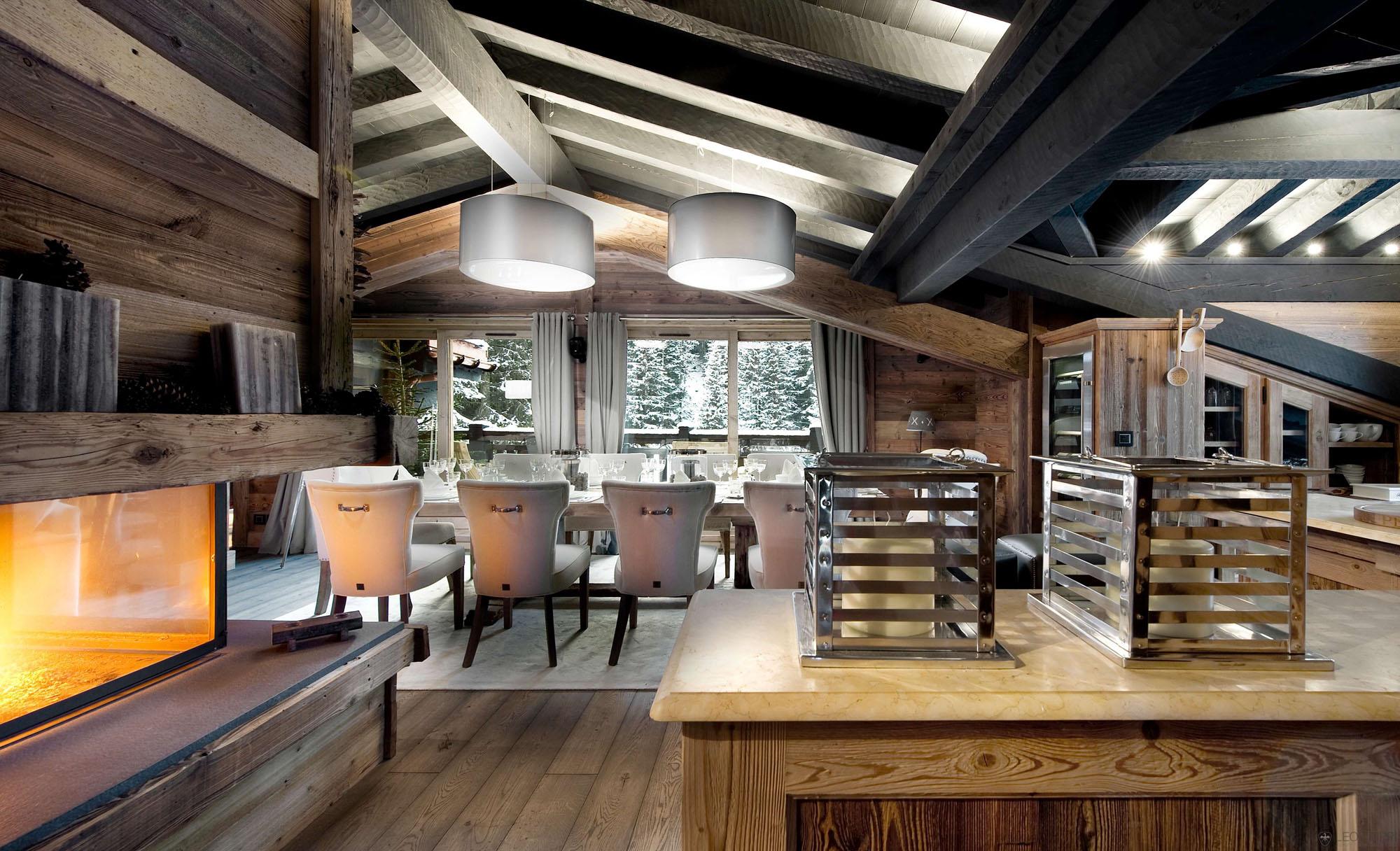 Стиль шале в загородном доме - простота и благородство