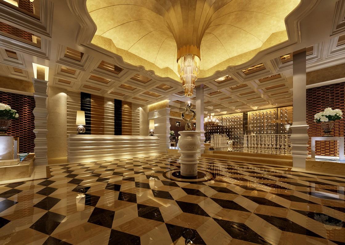 Интерьер холла гостиницы