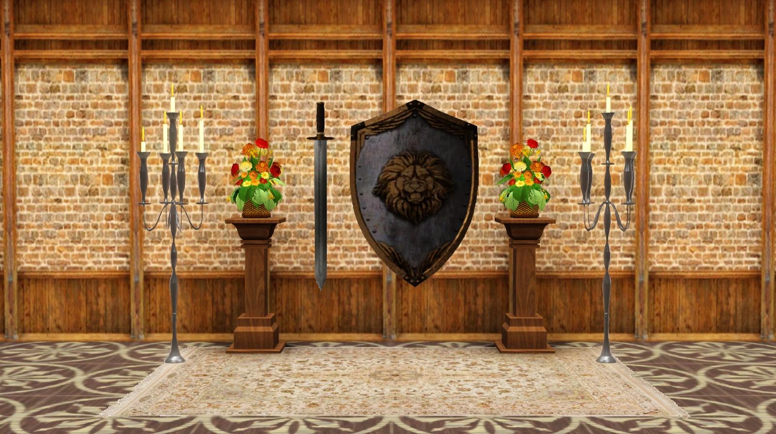 Детали для декора комнаты в средневековом стиле