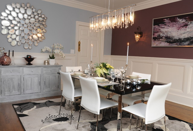 Mirrored dining room tables
