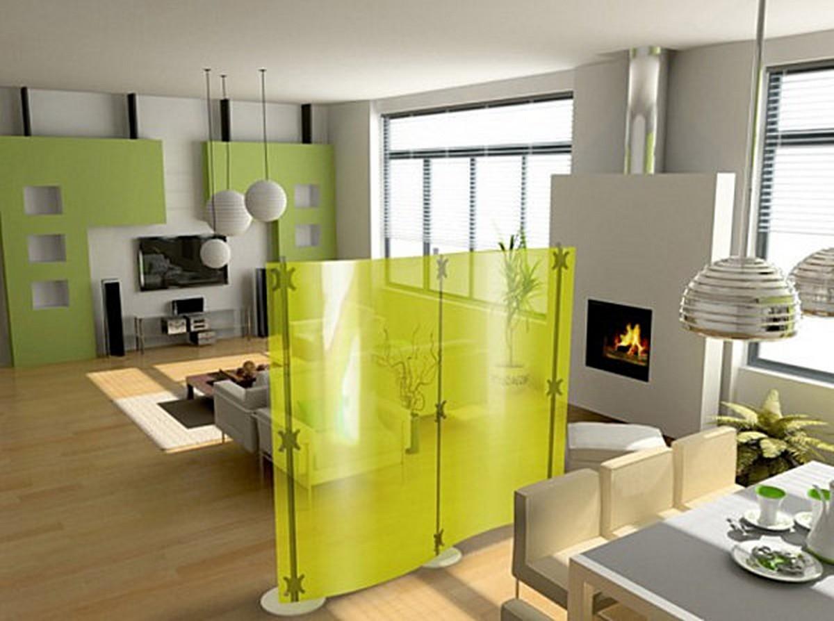 Декоративная перегородка - хорошее решение для квартиры-студии