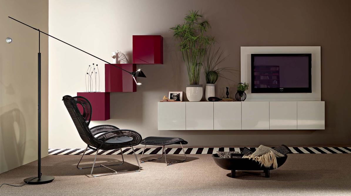 Пример использования модульных секций в интерьере современной гостиной