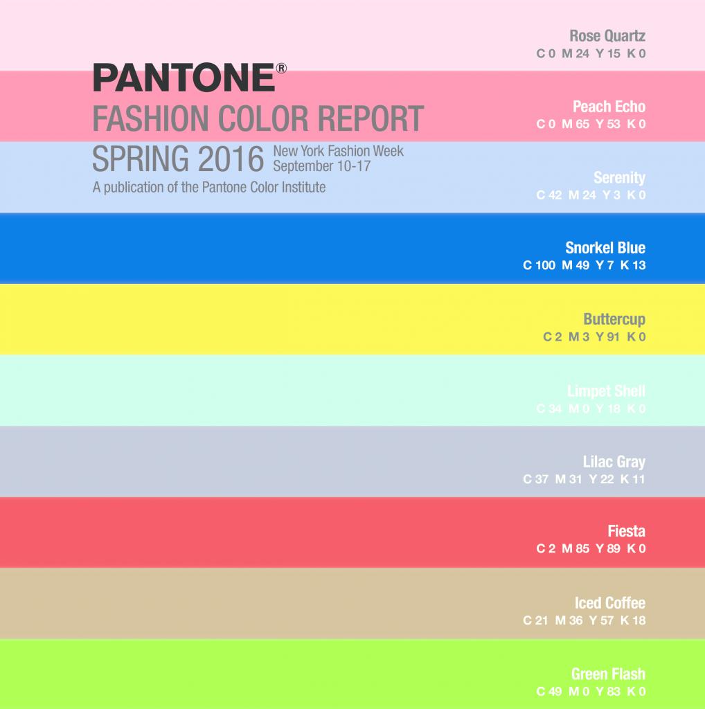 Модная палитра от Pantone