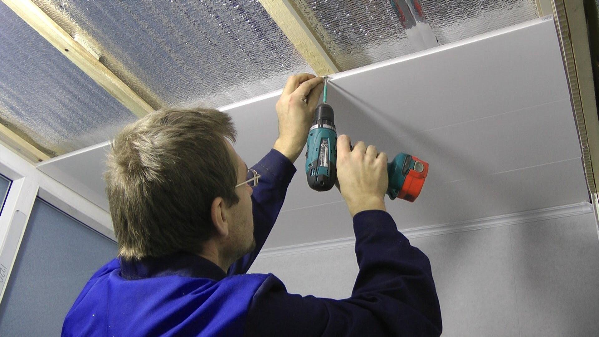Укладка пластиковых панелей на каркасную конструкцию