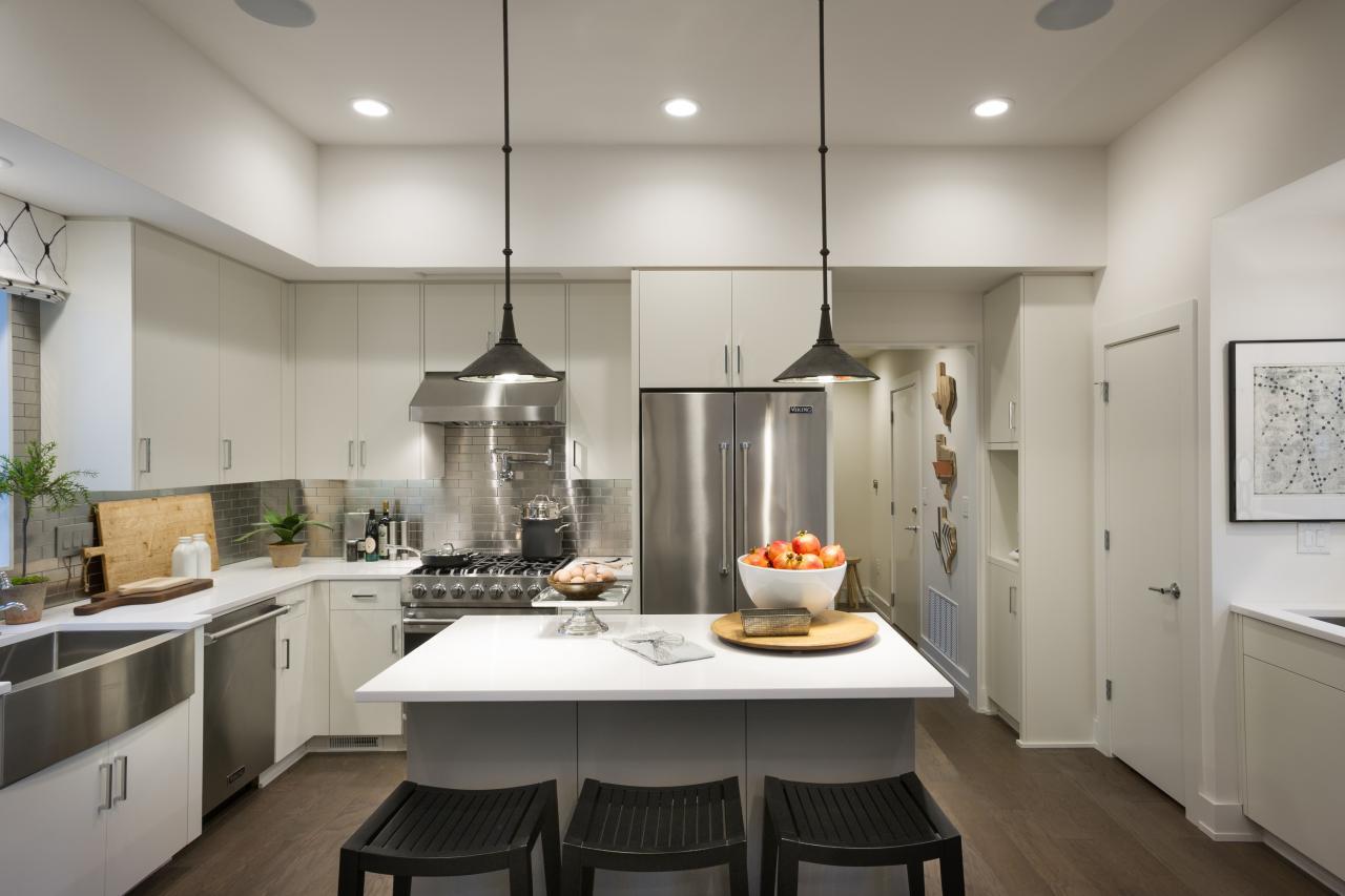 Различные способы оптимизации высокого пространства в кухне