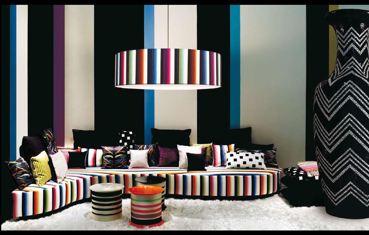 Вариант оформления комнаты в стиле фьюжн