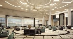 Стильный интерьер холла в отеле Radisson Blu Hotel Wuhan (Китай)