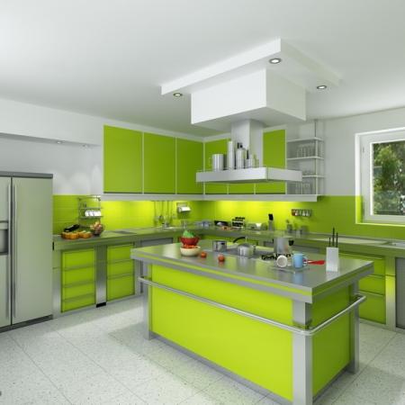 фото кухни цвет зеленый