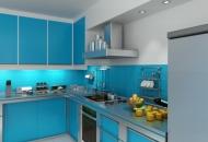 фото кухни цвет синий цвет
