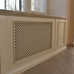 Декоративный экран для радиатора фото