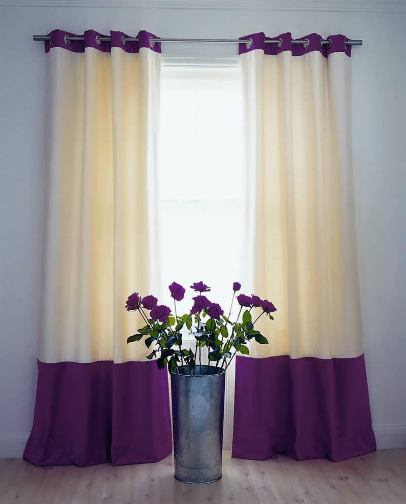 Гармоничное цветовое решение для штор