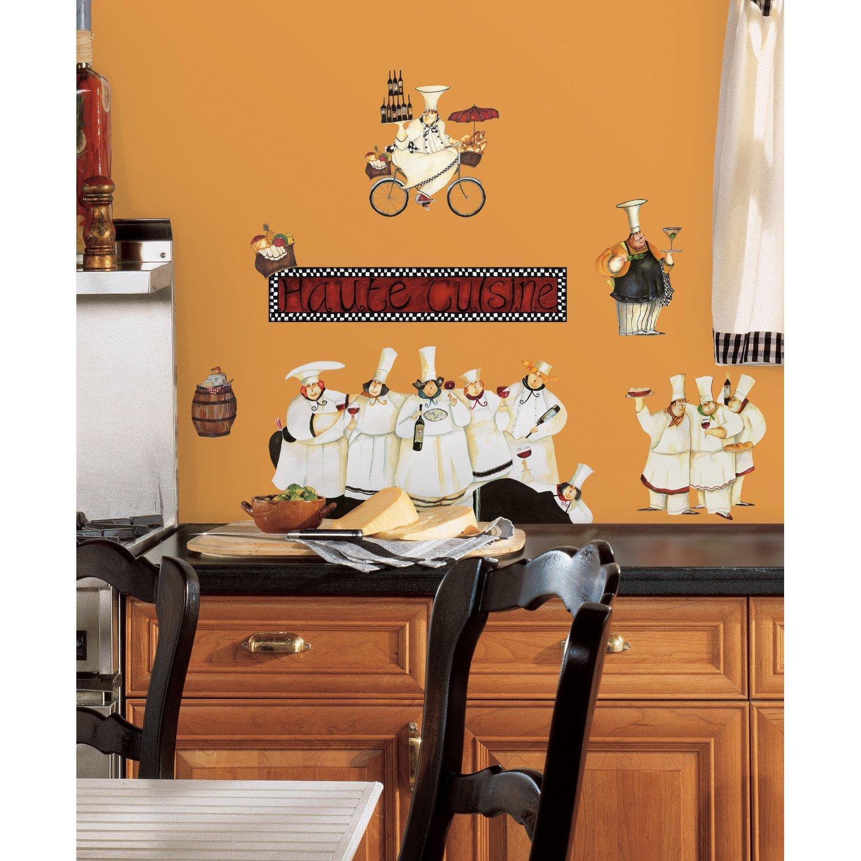 Необычная роспись стены на кухне